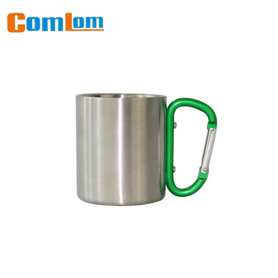 023459342fb CL1C-M47 Comlon Stainless Steel Travel Carabiner Camping Coffee Mug  pictures & photos
