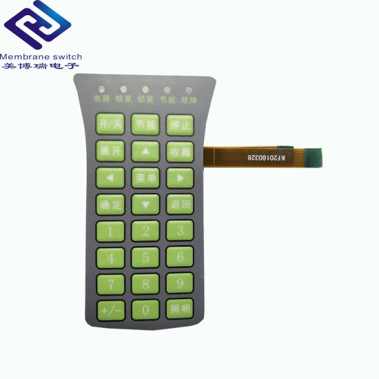[Hot Item] Metal Domes Tactile Electrical LED Indicator Medical Equipment  Membrane Switch Keypad