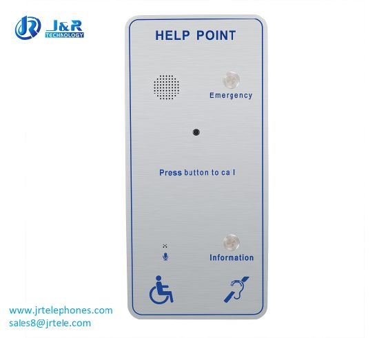 Top-Rated VoIP Emergency Help Point with Camera for Metro, Handsfree Sos Telephone pictures & photos