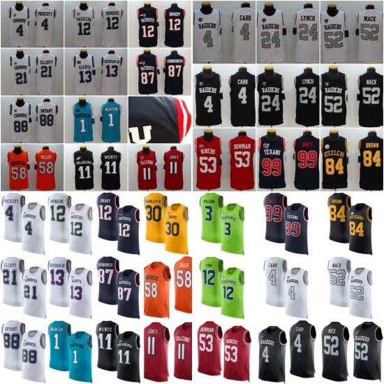 separation shoes 13dba 17429 [Hot Item] Men's Color Rush Player Name & Number Tank Top Football Jersey