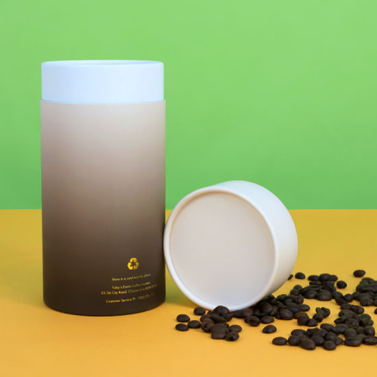Firstsail Food Safe Biodegradable Cyclindrical Paper Tube Package for Coffee Bean Tea Candy Chocolate Dry Fruit