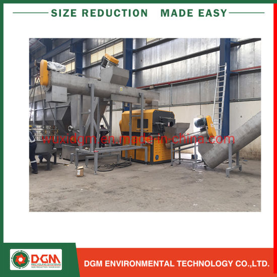 Waste Plastic PE PP HDPE LDPE Bulk Ton Bag Agricultural Film Shopping Bag Flakes Scraps Crushing Recycling Washing Line