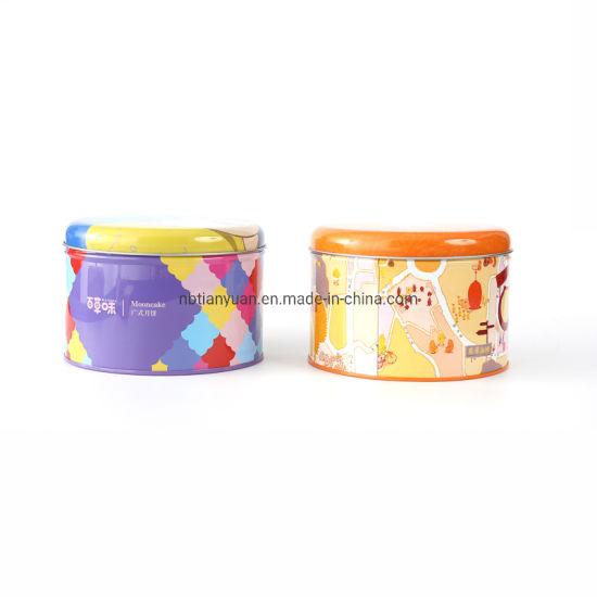 Customized Circular Metal Gift Box Cake Tin Boxes