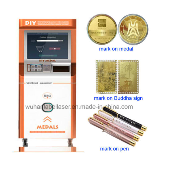 Medal/Souvenir/Commemorative Coin Marking and Vending Machine China Supplier