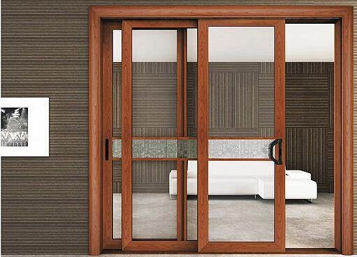 Custom Aluminium /Aluminium Profiles for Sliding Door with High Quality and Artistic pictures & photos