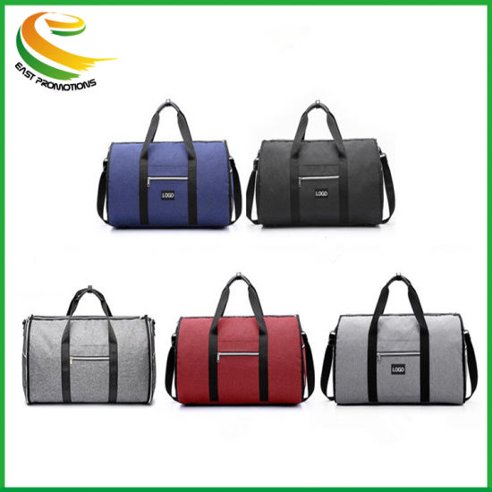 2 in 1 Can Carry Shoes Hanging Foldable Suitcase Suit Travel Gym Bags Garment Duffle Shoulder Travel Bag