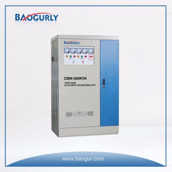 Three Phase Meter Display Cbw-200kVA Industrial Voltage Stabilizer