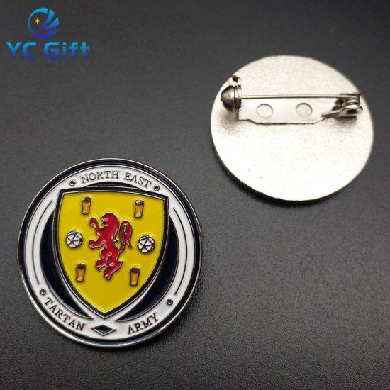 Customized Souvenir Sports Lapel Pin Metal Emblem Stamping Soft Enamel Pin Army Badge for Promotion Gift (BG83)