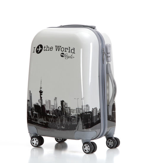 Hotsale Printing Luggage, Spinner Wheels ABS+PC Suitcase (XHPA007)