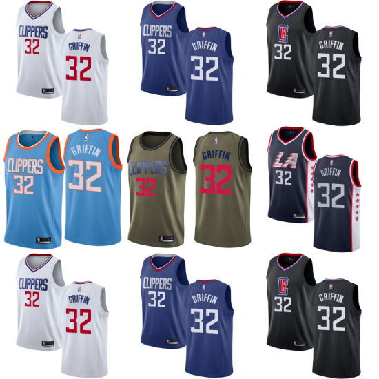 sale retailer 49488 65872 Los Angeles Clippers Blake Griffin Home Away Third Basketball Jerseys