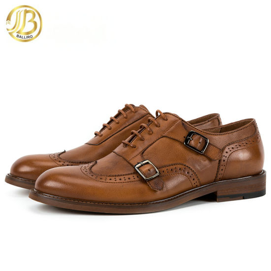 Italian Latest Design Goodyear Welted Mens Formal Style Genuine Leather Dress Shoes