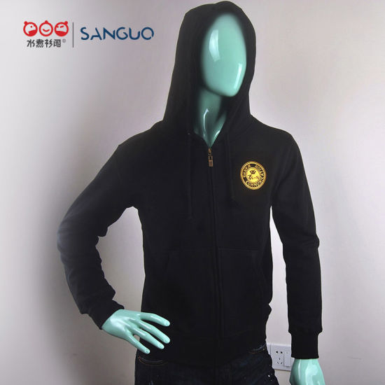 High Quality 100% Cotton Pullover Warm Men Custom Hoodies in China