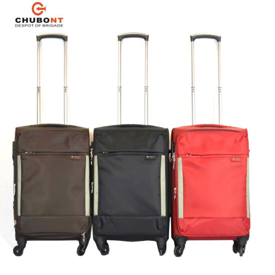 d889beb71 China Bags Factory 4 Wheels Nylon Trolley Suitcase - China Luggage ...