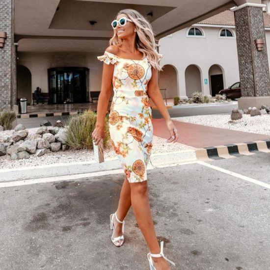 New Ladies Simple Fashion Fishtail Pattern Beach Wrap Dress