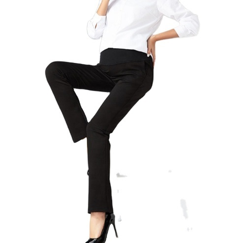 Big Size Stretch High Waist Straight Cut Pregnant Pants Women Pregnancy Work Trousers S to 4XL