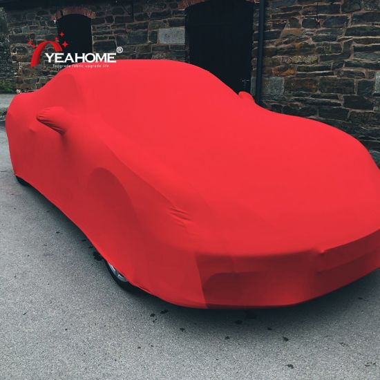 4-Ways Elastic Indoor Cover Dustproof Breathable Auto Car Cover