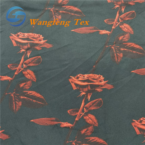 100% Polyester 50*75 Full-Dull Poly Satin Printed Dressfabric