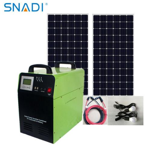 Snadi 300W 500W 1000W 1500W Pure Sine Wave Solar Generator Portable Solar System