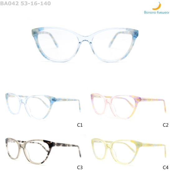 Latest Fashion Lamination Frame Woman Acetate Optical Eyewear