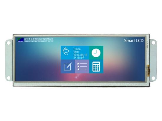 RS232 Interface 1366X480 6.8 Inch LCD Module Smart TFT LCD Display