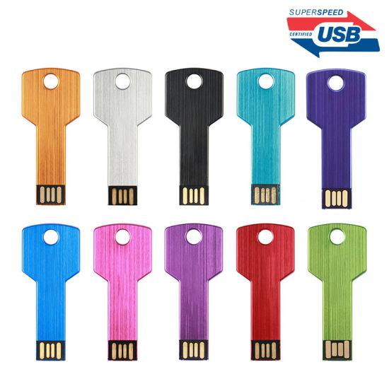 High Speed Wholesale USB Pen Drive Key Shape Customized Gift USB 3.0 Flash Drive USB Stick