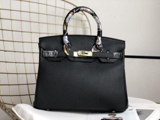 Fashion Designer Real Leather Luxury Lady Handbags Tote Bag