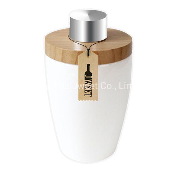 Custom Cylinder-Shaped 750ml Tequila Ceramic Bottle with Cork