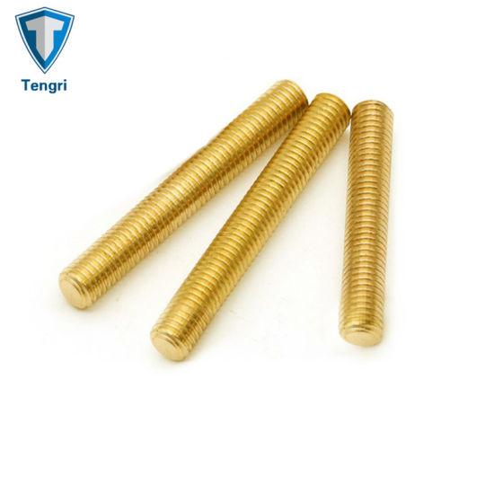 Custom M3 M5 High Precision Brass Thread Rods Building Rods Stud Bolts