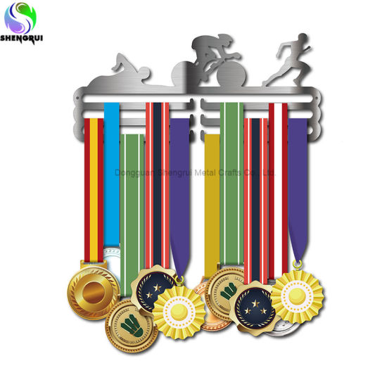 Sport Medal Display Hanger Stainless Steel Medal Display Rack for Triathlon Running Swimming