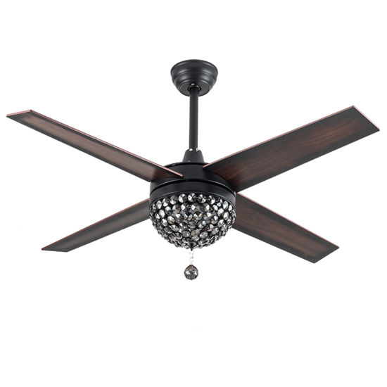 48 Inch 52 Inch 110V 127V American Mexico Wholesale Decorative Chandelier LED Lighting Antique Ceiling Fan