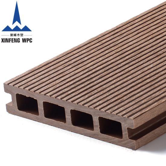 Wood Grain Embossed WPC Decking Outdoor Floor