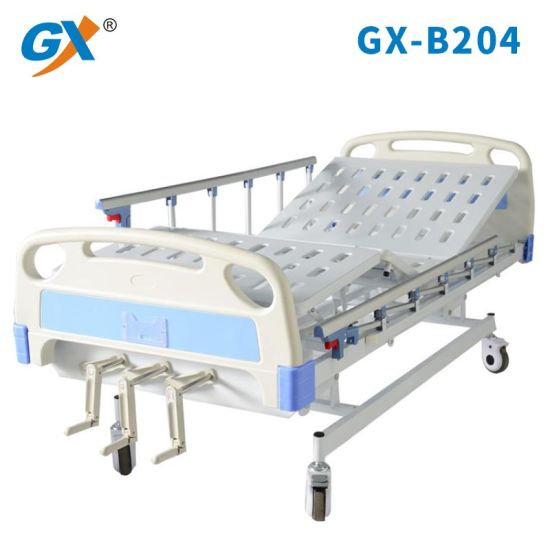 Three Functions Adjustable Manual Hospital Bed for Sale