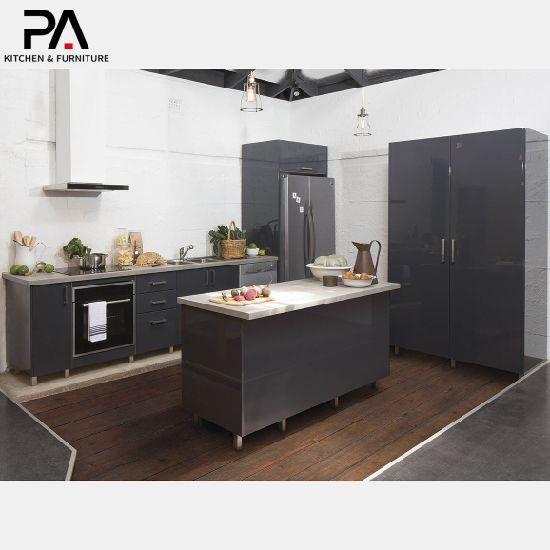 China Lacquering Board Dark Kitchen Cabinets China Kitchen Cabinets Kitchen Furniture