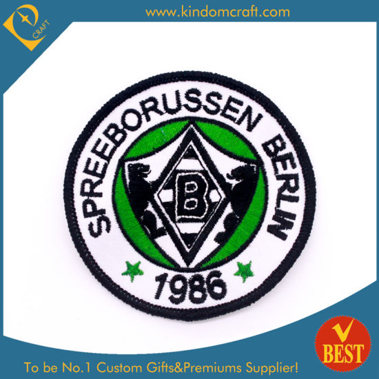 Top Quality Cheap Custom Character Logo Embroidery Patch Badge for Club and Uniform Decoration