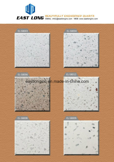 Cheap Engineered Solid Surface Double Color Artificial Quartz Stone Slab pictures & photos