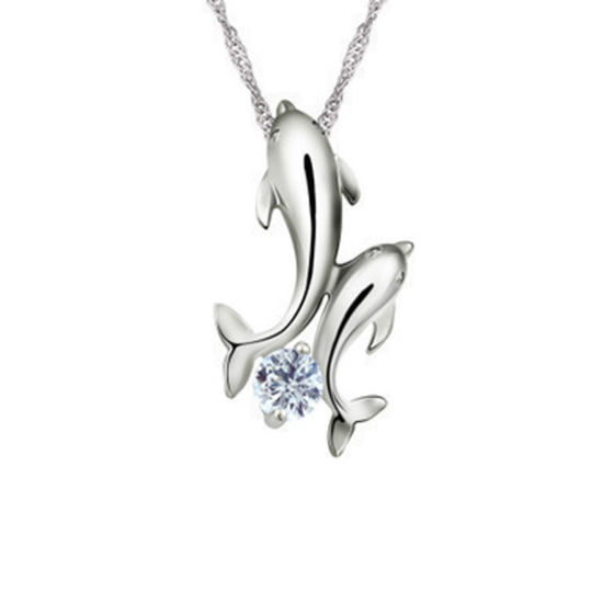 China silver dolphins necklace pendant 925 sterling silver pendants silver dolphins necklace pendant 925 sterling silver pendants wholesale aloadofball Images
