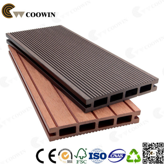 Eco-Friendly Colormix Wood Grain PVC Waterproof Decking pictures & photos