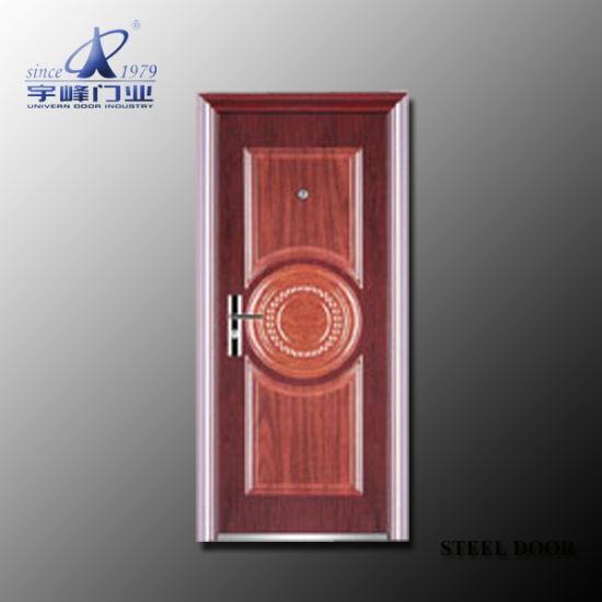 Socool Turkey Metal Steel Wood Security Doors Entrance Door Design