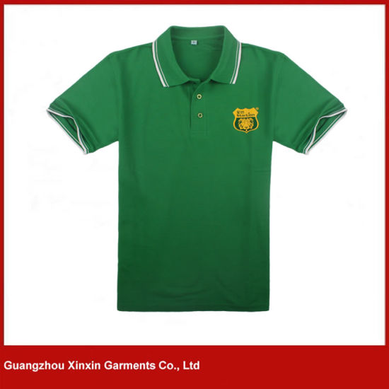 Customized Short Sleeve Cotton Mens Polo Shirts Apparel (P176)
