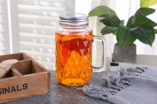 Square Shape Glass Mason Jar with Regular Mouth