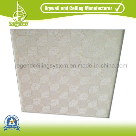 pvc ceiling tiles. PVC Ceiling Tiles /PVC Suspended Gypsum Tile 595X595mm Pvc