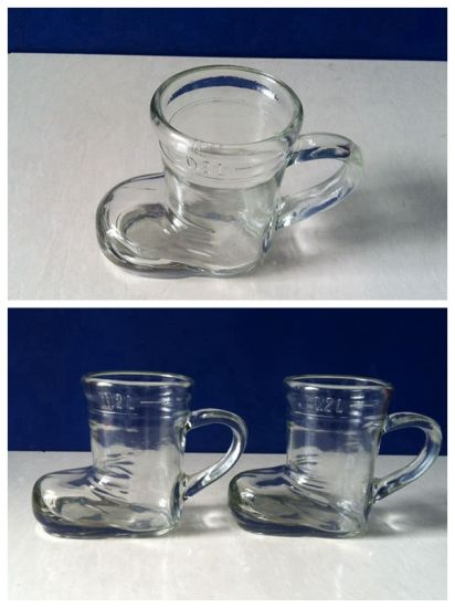 200ml Boot-Shaped Glass Cup with Handle Wholesale pictures & photos