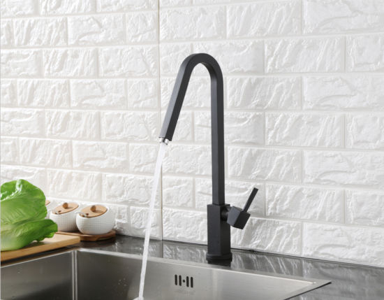 Black Color Square Swivel Kitchen Sink Water Faucet pictures & photos