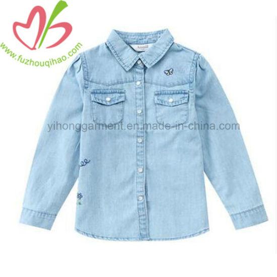 70449924 China Fashion Casual Long Sleeve Denim T-Shirt for Kids - China Kids ...