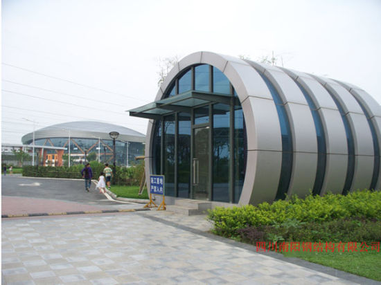 China Low Cost Steel Frame Construction Warehouse Building - China ...