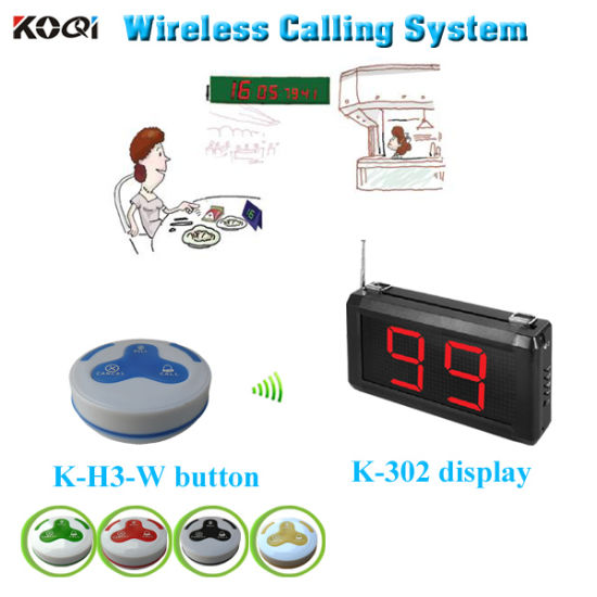 Wireless Catering Equipment with LED Display Receiver and Table Button