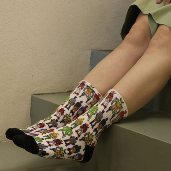 China Yellow And Red Flowers Cute Socks For Girls Hot Little Teen 3d Print Digital Printer Price