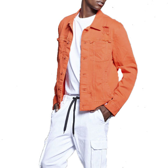 Solid Cotton Denim Jacket Wholesale New Design Man Printing Denim Jacket Custom Embroidery Mens Jacket