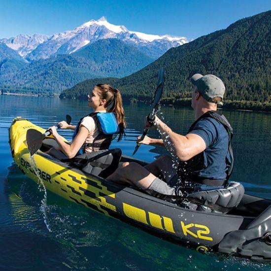 High Quality Rowing Boat 2 Person Inflatable Fishing Kayak Drop Stitch Kayak Seat Kayak