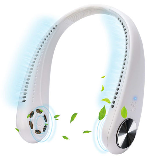 Fashion Lazy Portable Air Cooling Hanging Neck Fan USB Rechargeable Neckband Fan Hand-Free Personal Mini Neck Fan for Girls Gift